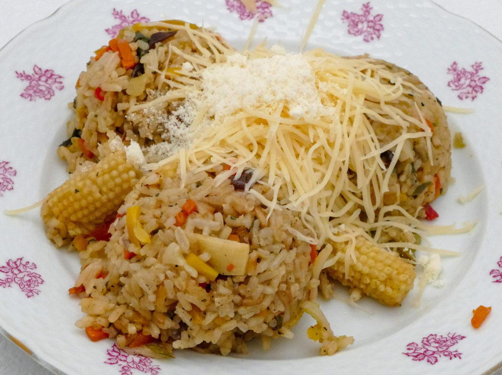 Co na oběd? Rýže se zeleninou (automatické rizoto) a nízkotučným sýrem Boryna